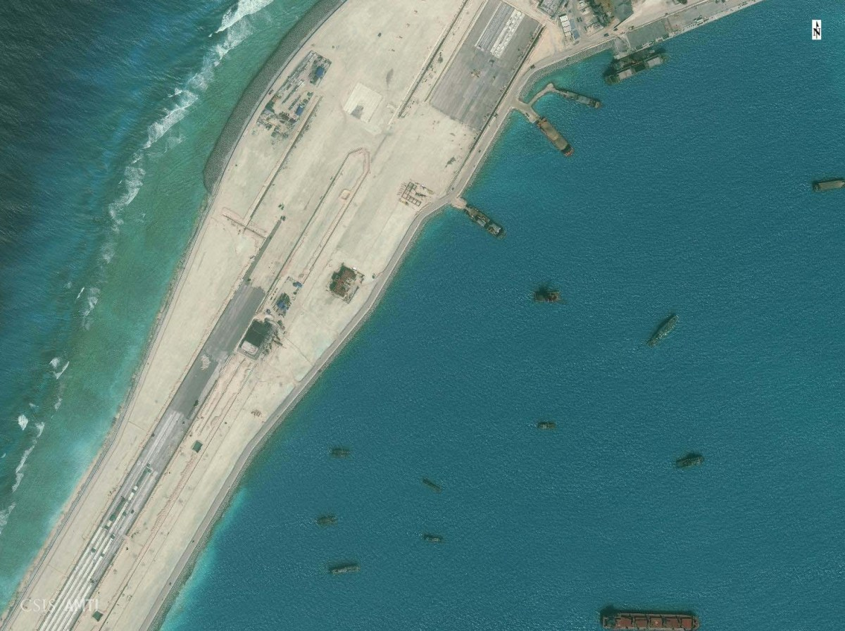 The northern end of the Subi Reef runway as of December 21.