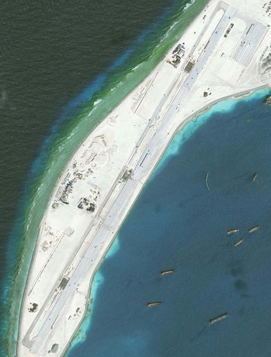 The entire runway at Mischief Reef as of January 8.