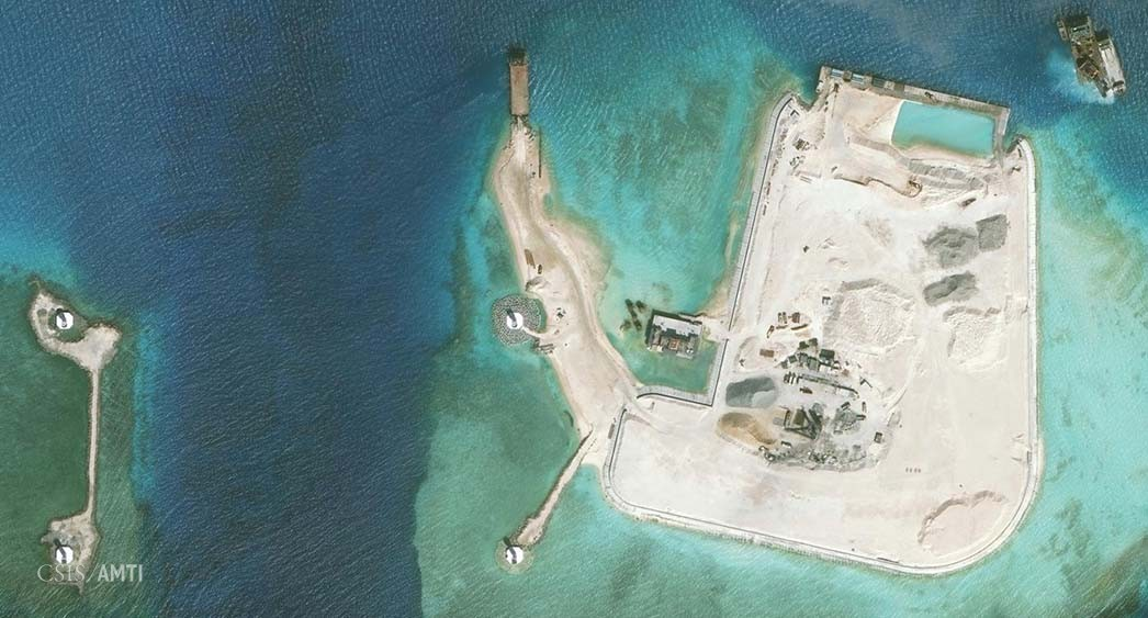 The northwest side of Mischief Reef as of January 8.