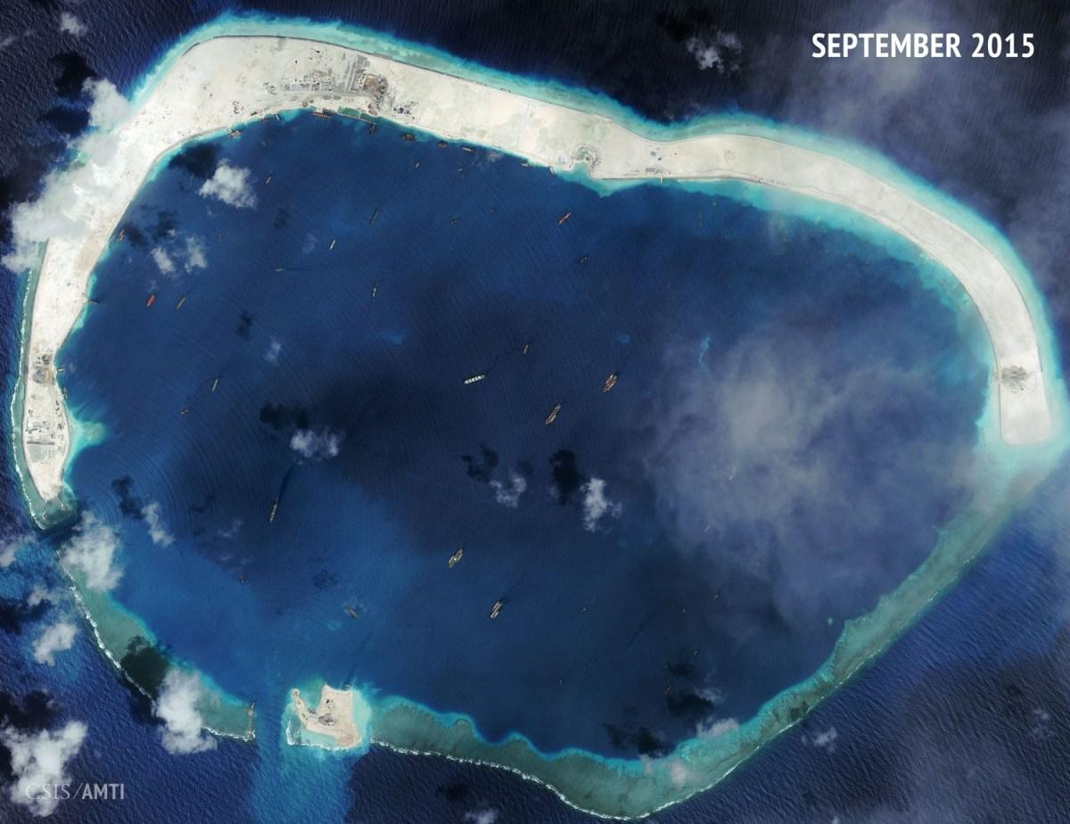 Mischief Reef as of September 8, 2015.