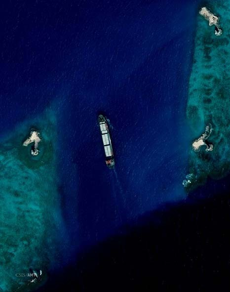 Freighter passes into Subi Reef Lagoon January 8.