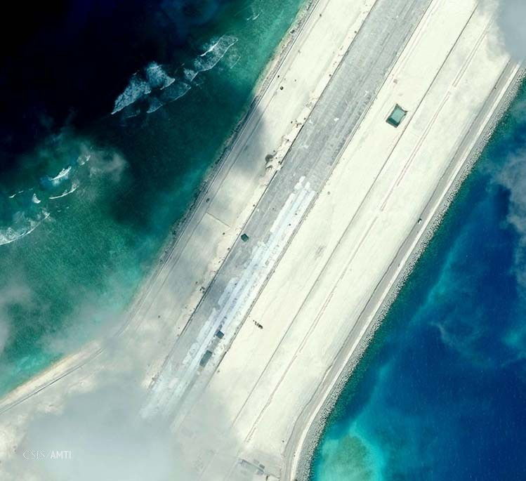 The northern end of the Subi Reef runway as of January 8.
