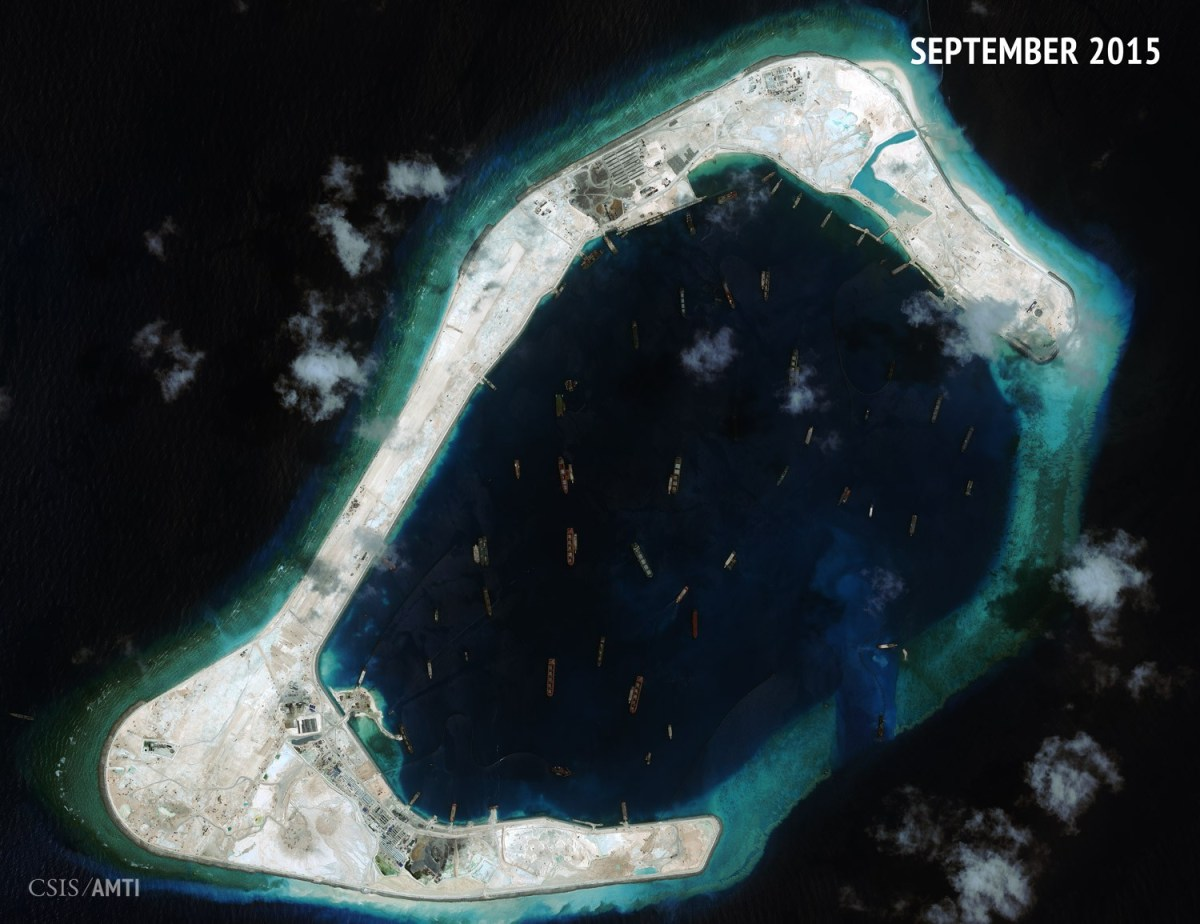 Subi Reef as of September 3, 2015.