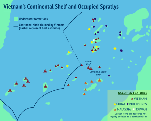 Vietnam's Continental Shelf and Occupied Spratlys_Mar-01