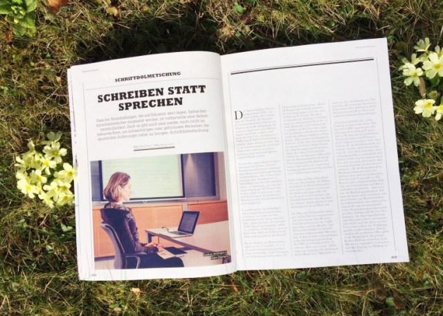 Schriftdolmetsch-Service Amtmann im Valid-Magazin
