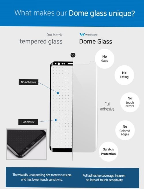 small resolution of galaxy note 8 whitestone dome glass with uv light easy install kit