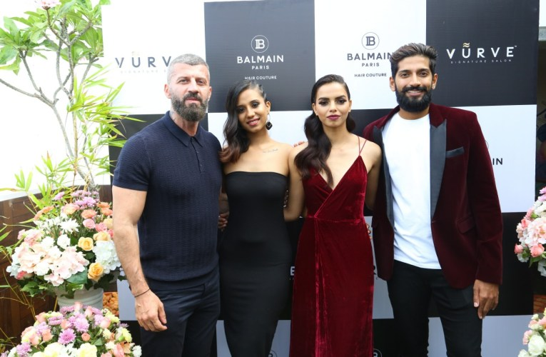 Vurve Signature Salon launches Balmain Hair Couture at its new salon at ECR with Celebrity Hairstylist Yianni Tsapatori