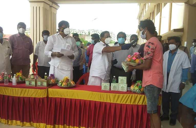 வியாசர்பாடி சித்த மருத்துவ மையத்தில் 8 பேர் டிஸ்சார்ஜ்