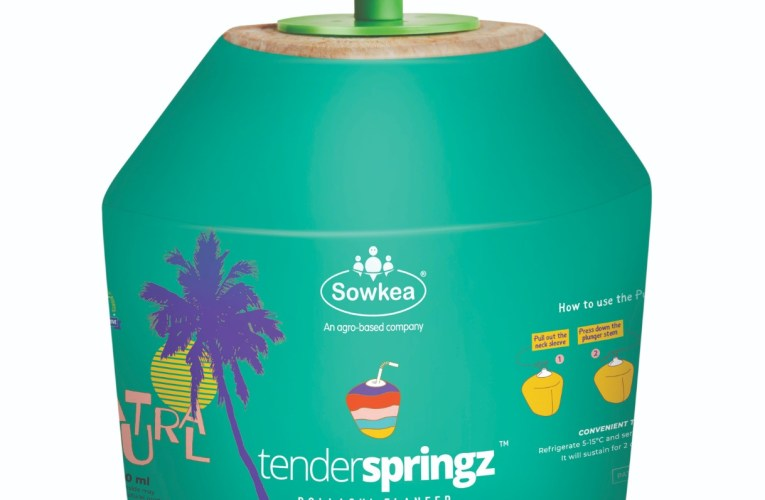 Actor Vijay Sethuapthi launches Tender Springz Coconut Water– a new age nutrition- rich cold drink by Sowkea Agro