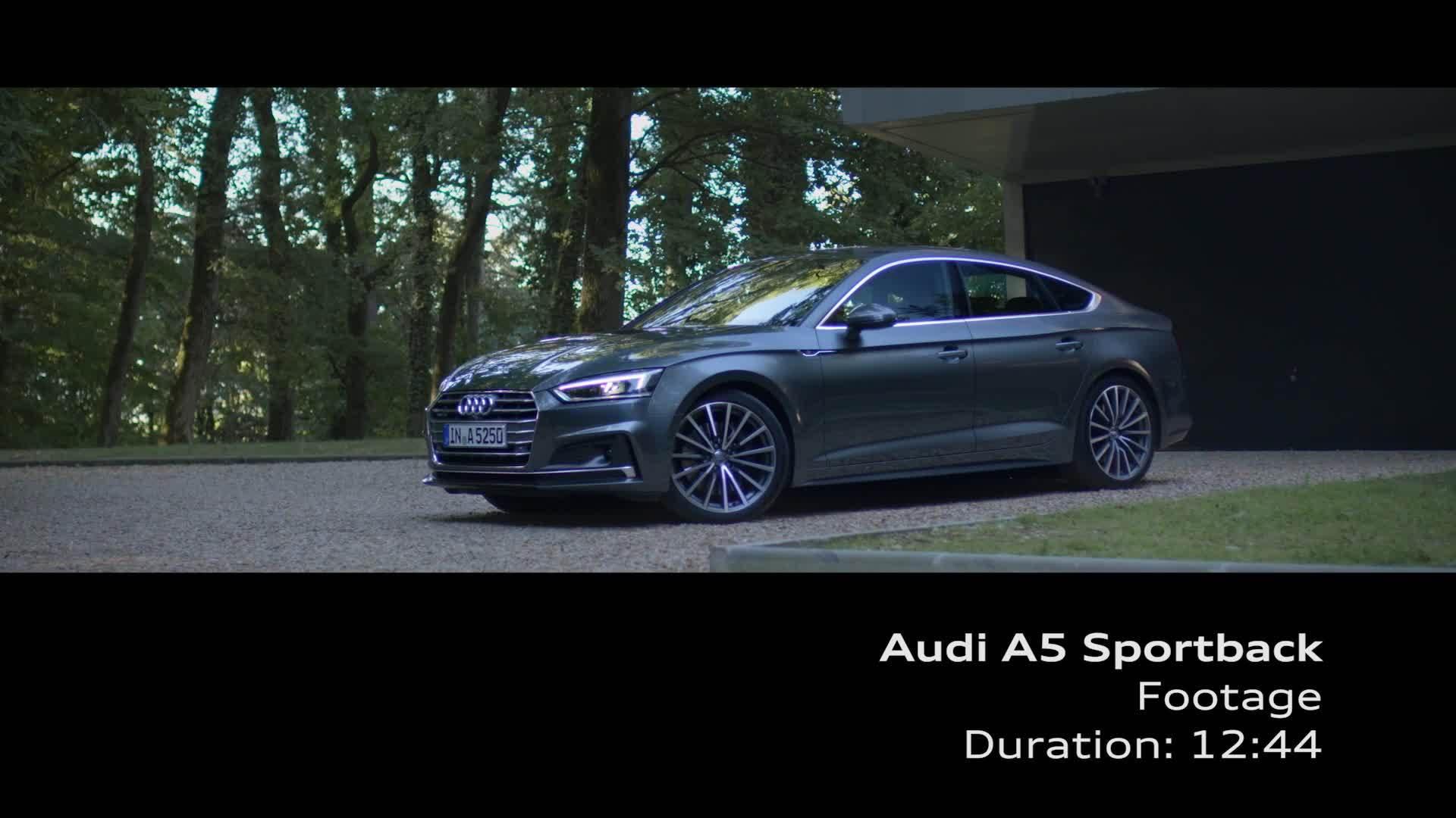 medium resolution of audi a5 sportback footage