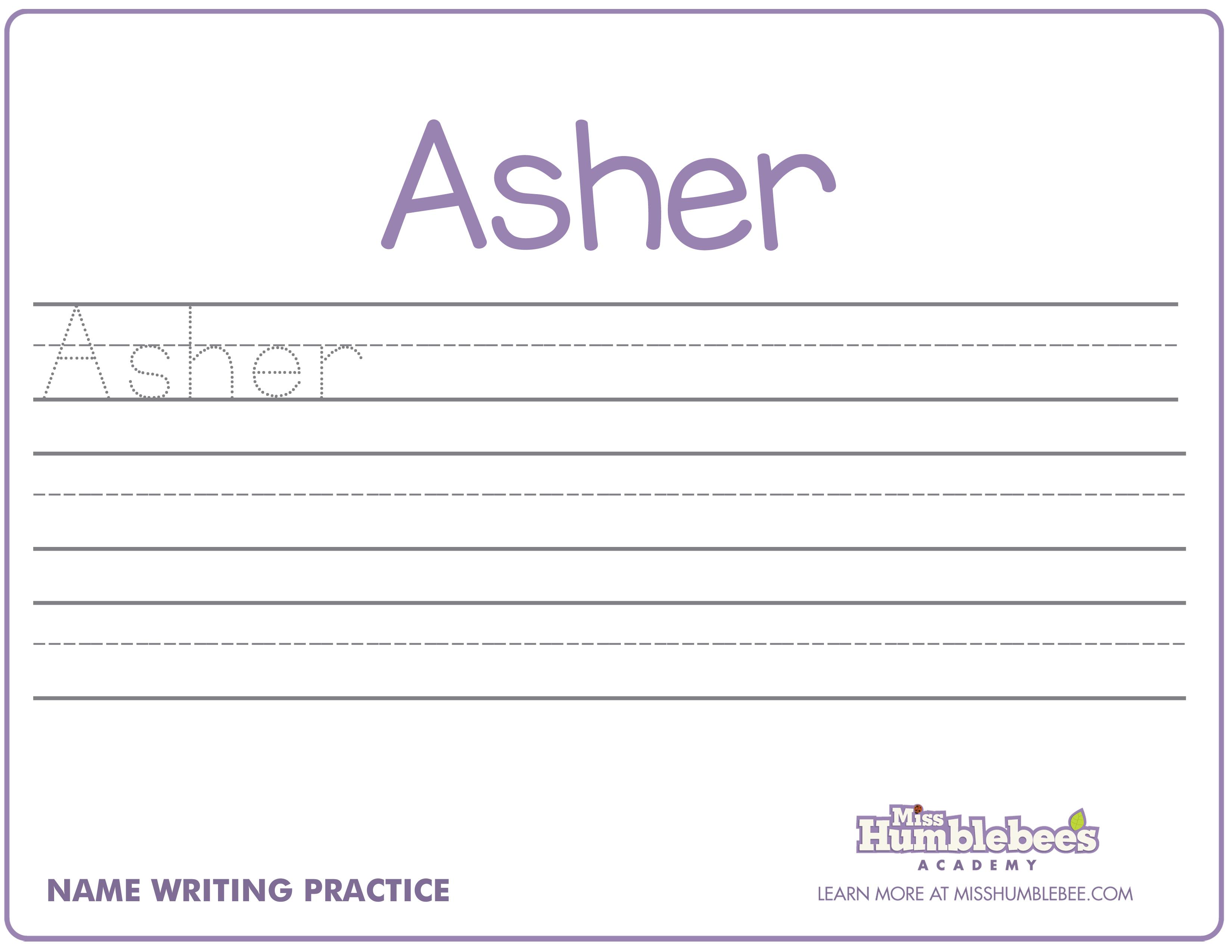Name Handwriting Sheets