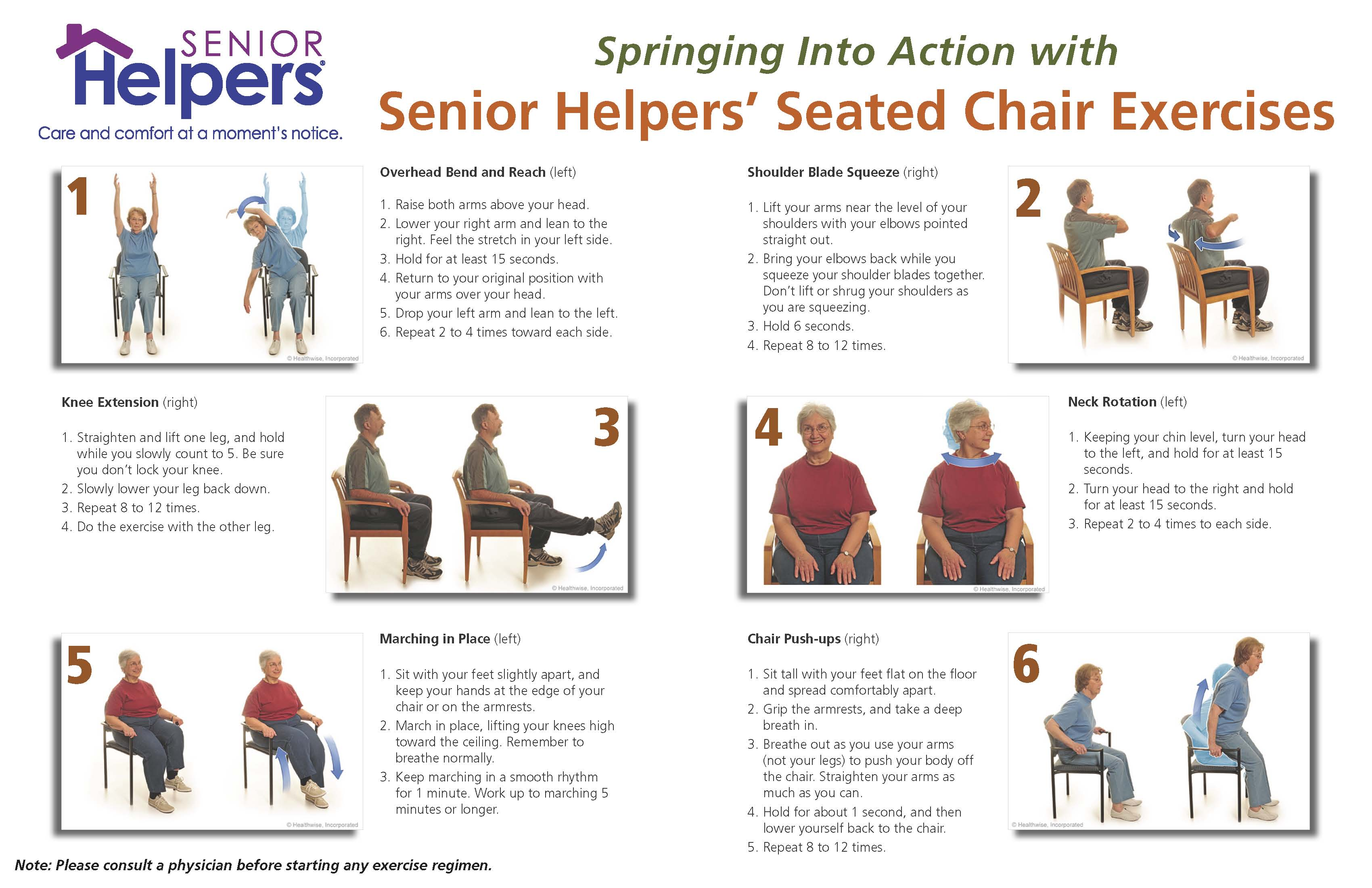 Seated Leg Exercises For Seniors With Pictures
