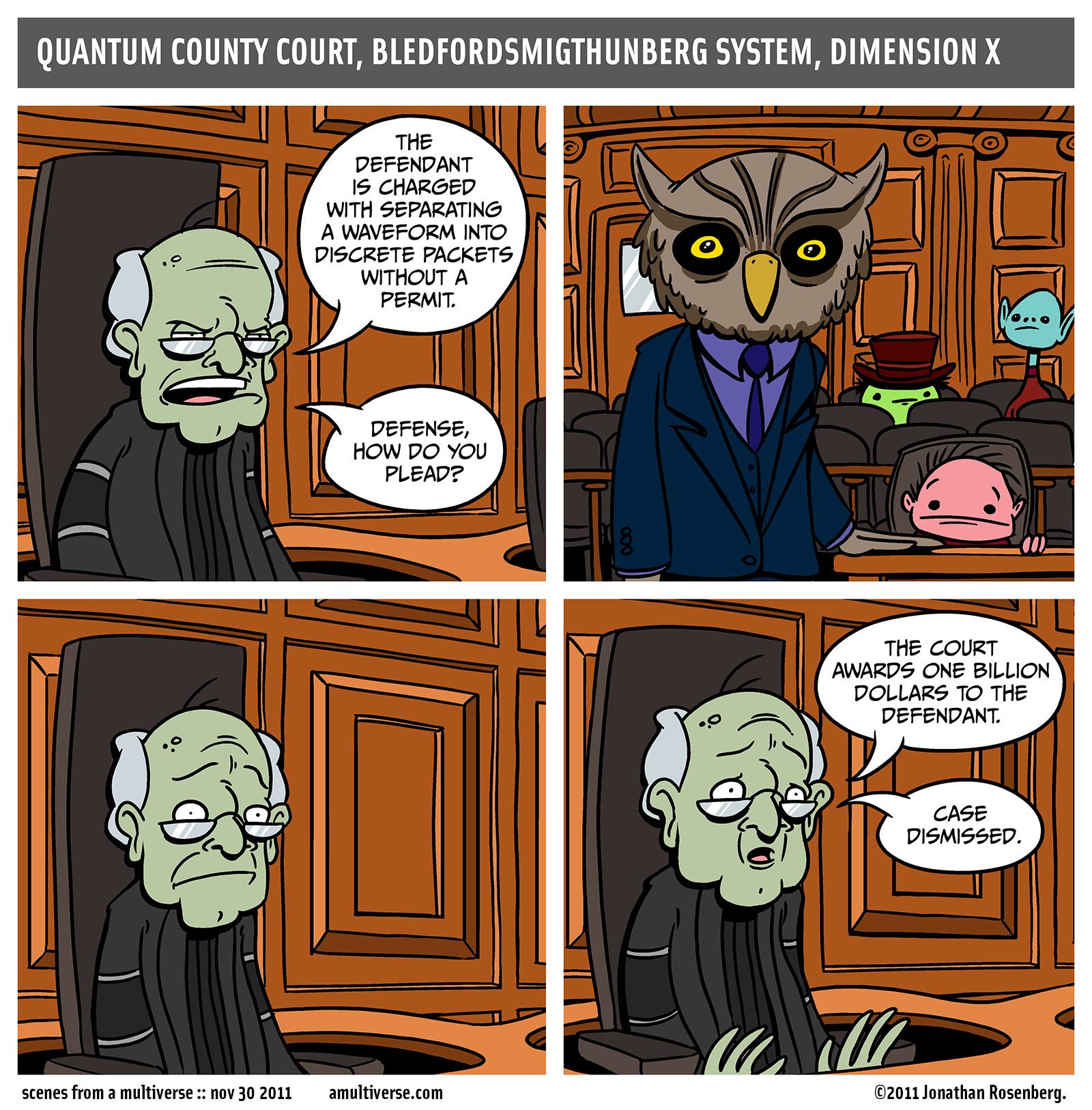 bailiff, please bring mr. greenstein a tray of fresh mice right away