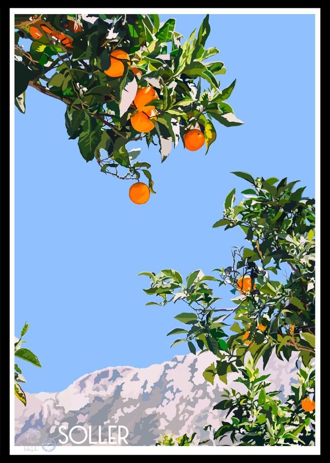 Mallorca Sollér Poster