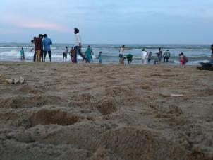 Hitting the beach in the evenings
