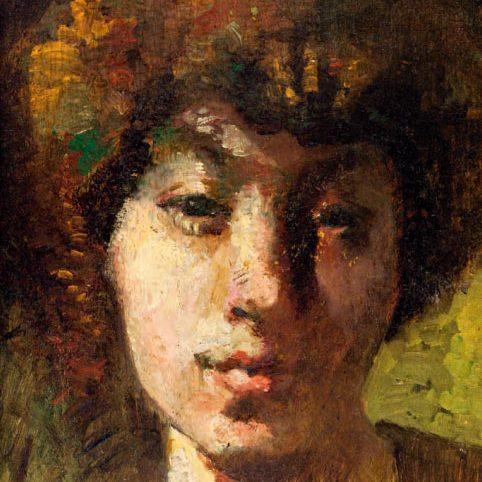 Автопортрет (фрагмент), Мари Лорансен, ок. 1905