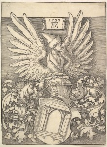 Coat of Arms of Albrecht Dürer Albrecht Dürer (German, Nuremberg 1471–1528 Nuremberg) Date: 1523 Medium: Woodcut