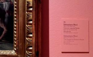 """Legenda da obra """"Ceia em casa de Simão"""", de Sebastiano Ricci."""