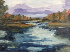 The River oil painting