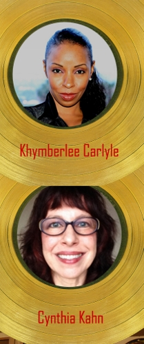 Cynthia Kahn and Khymberlee Carlyle in gold records