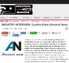 Cynthia Kahn on Infectious Magazine