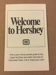 1972 Welcome to Hershey A