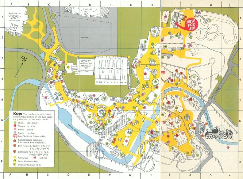 1988 Hersheypark map A
