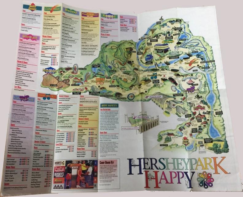 1997 Hersheypark map