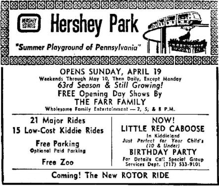 First post to Hersheypark History Group