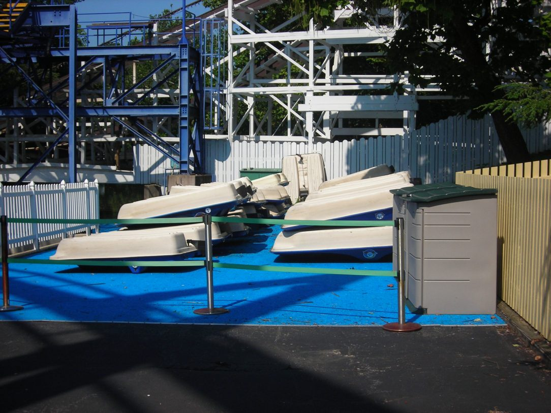 Paddleboats storage