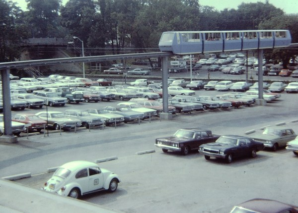 August 1970 Monorail downtown