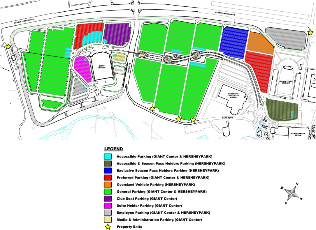 Facility Parking A: Pre Park Blvd realignment