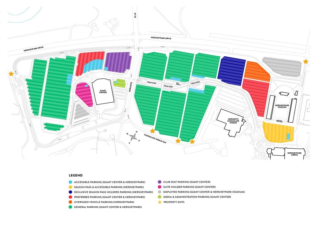Facility Parking Map B: Post Park Boulevard realignment