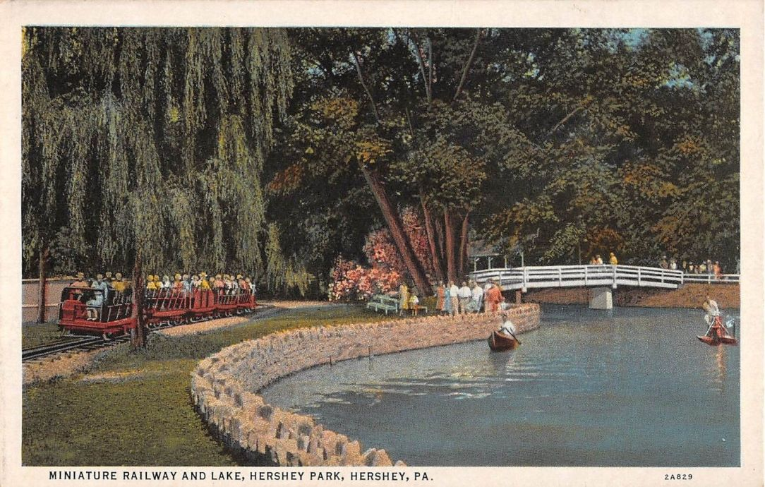 1940 ~ Miniature Railroad and Lake