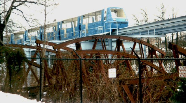 Circa 1984 The Bug scrapped near Monorail [large] [JWGreen].jpg