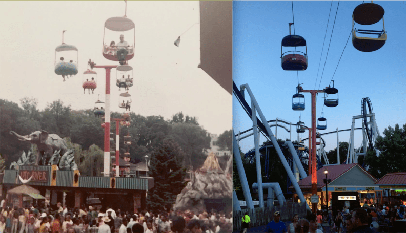 Then and now: Skyview over the Hollow in 1967 and 2018