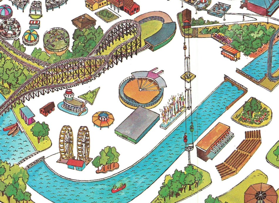 1973 Hersheypark map