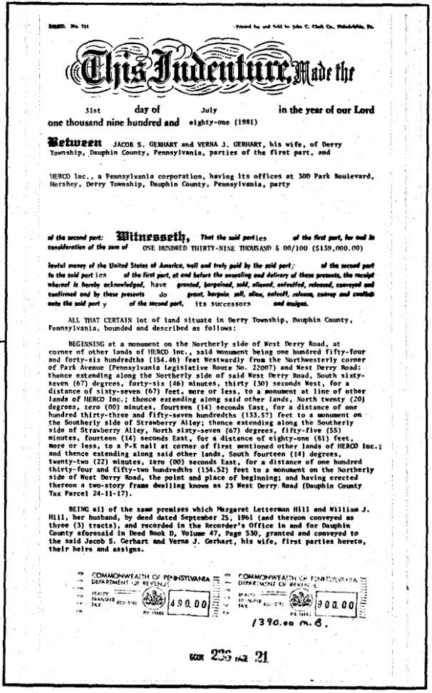 1981-08-05 Gerhart, Jacob to HERCO