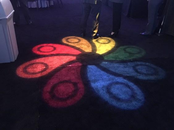 Pinwheel logo light display