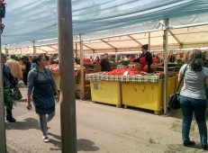 The biggest market in Bucharest, Obor.