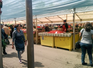 The biggest market in Bucharest, Obor.