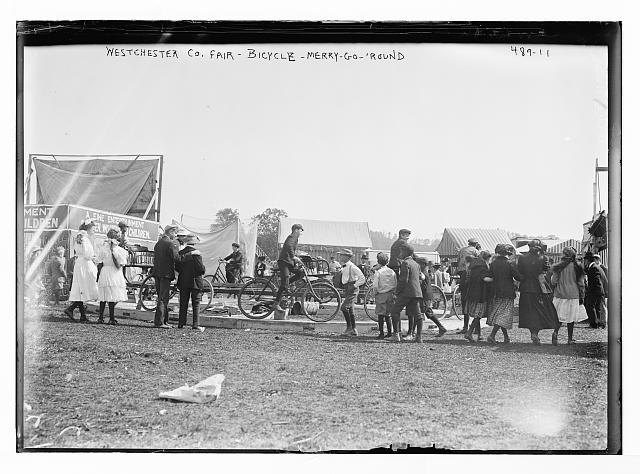 Bicycle merry go round at Westchester County Fair. George Grantham Bain Collection (Library of Congress)