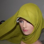 Step 2 placing the hijab on top of the bonnet  4 Stylish Ways to Wear your Hijab - pix and how to's right here! amuslima 006