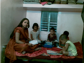 Shabera was giving tuitions  Shabera Khatun, Story from Dhaka Shabera giving tutions1