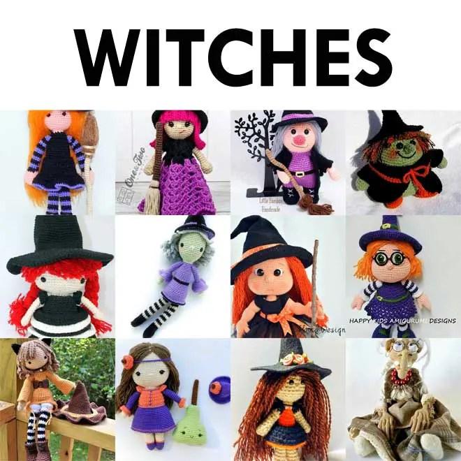Halloween witch, DIY amigurumi crochet tutorial - Peggy Sew | 660x660