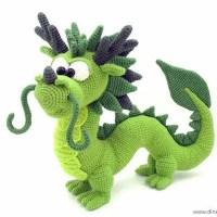 red Chinese dragon plush - miniature dragon amigurumi | 200x200