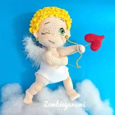 Crochet Valentine Cat Amigurumi Free Patterns | Crochet valentine ... | 400x400