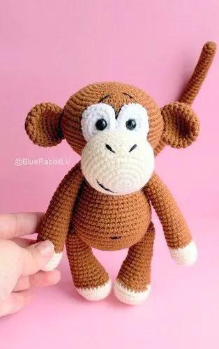 crochet monkey amigurumi (With images) | Crochet monkey pattern ... | 500x314