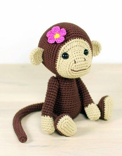 Lily the Baby Monkey Lovey and Amigurumi Crochet Patterns Pack | 500x390
