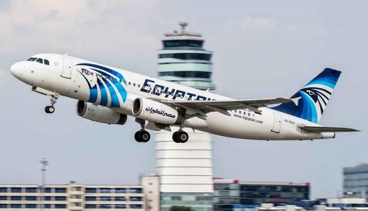 إحدى طائرات أسطول شركة مصر للطيران
